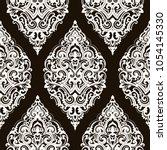 vector damask seamless pattern | Shutterstock .eps vector #1054145330