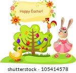 vector illustration of a easter ... | Shutterstock .eps vector #105414578