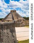 mexico  chichen itz   yucat n....   Shutterstock . vector #1054145834