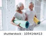 senior couple is doing fitness...   Shutterstock . vector #1054146413