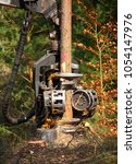 lumberjack with modern...   Shutterstock . vector #1054147976