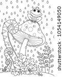 vector doodle coloring book...   Shutterstock .eps vector #1054149050