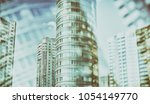 city life. abstract background... | Shutterstock . vector #1054149770