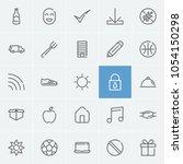laptop icon with lock  smile...