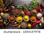cooking ingredient  spice | Shutterstock . vector #1054157978