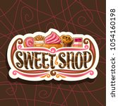 vector logo for sweet shop  cut ... | Shutterstock .eps vector #1054160198