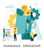 vector illustration. people... | Shutterstock .eps vector #1054162109