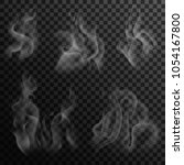 set of digital realistic smoke... | Shutterstock .eps vector #1054167800