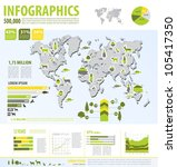eco info graphic vector with... | Shutterstock .eps vector #105417350
