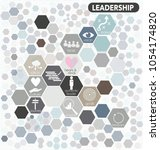 leadership icons with text in... | Shutterstock .eps vector #1054174820