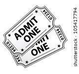 two vintage cinema tickets... | Shutterstock .eps vector #105417794