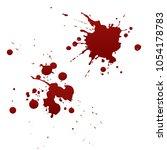 bloody splatters. drop and blob ... | Shutterstock .eps vector #1054178783