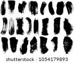 set of grunge brush strokes  | Shutterstock .eps vector #1054179893