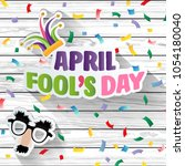april fool's day  typography ...   Shutterstock .eps vector #1054180040