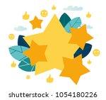 vector illustration on white... | Shutterstock .eps vector #1054180226