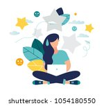 vector illustration.flate... | Shutterstock .eps vector #1054180550