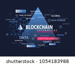 blockchain cryptocurrency... | Shutterstock .eps vector #1054183988
