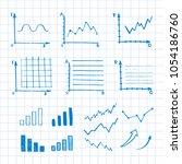 hand drawn business doodle set... | Shutterstock .eps vector #1054186760