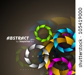 abstract colorful circles on... | Shutterstock .eps vector #105419000