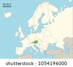 europe map austria  | Shutterstock .eps vector #1054196000