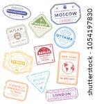 international travel visa... | Shutterstock . vector #1054197830