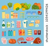 Daily Food Products Icons....