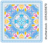 decorative colorful ornament on ... | Shutterstock .eps vector #1054205870