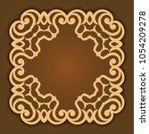 background of round patterns  | Shutterstock .eps vector #1054209278
