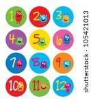 number monster   Shutterstock .eps vector #105421013