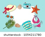 vector layout on the theme of... | Shutterstock .eps vector #1054211780