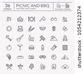 picnic and barbecue web icon... | Shutterstock .eps vector #1054212374