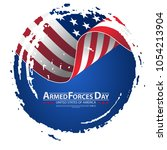armed forces day template... | Shutterstock .eps vector #1054213904