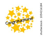 congratulations label or sign... | Shutterstock .eps vector #1054216184