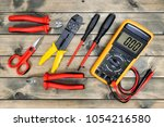 close up of work tools for...   Shutterstock . vector #1054216580