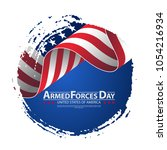 armed forces day template... | Shutterstock .eps vector #1054216934