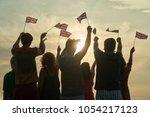 united kingdom patriots  back... | Shutterstock . vector #1054217123