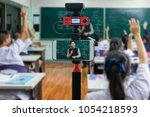 closeup smart mobile phone...   Shutterstock . vector #1054218593