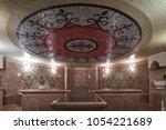 interior of luxury turkish bath ... | Shutterstock . vector #1054221689