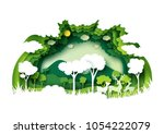 save the world with ecology and ... | Shutterstock .eps vector #1054222079