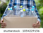 garbage for recycling concept... | Shutterstock . vector #1054229156