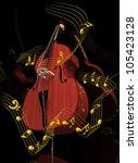 contrabass  doublebass ... | Shutterstock . vector #105423128