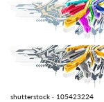 vector illustration in style... | Shutterstock .eps vector #105423224