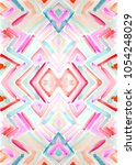 colorful  geometric watercolor... | Shutterstock . vector #1054248029
