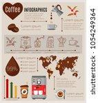 coffee infographics set... | Shutterstock .eps vector #1054249364