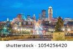 des moines iowa skyline in usa  ...   Shutterstock . vector #1054256420