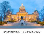 state capitol in des moines ... | Shutterstock . vector #1054256429