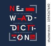 new addiction typography... | Shutterstock .eps vector #1054267640