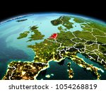 morning above netherlands... | Shutterstock . vector #1054268819