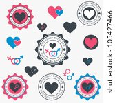 set of heart icons. vector | Shutterstock .eps vector #105427466