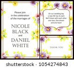vintage delicate invitation...   Shutterstock .eps vector #1054274843